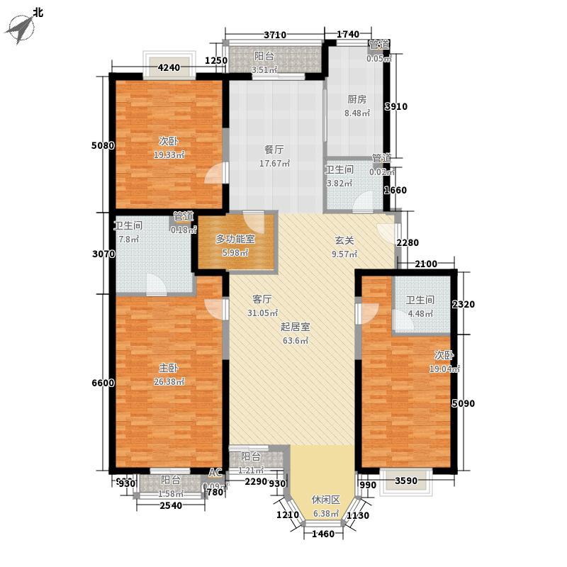 新新公寓182.00㎡户型4室