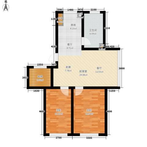 富馨花园2室0厅1卫0厨82.00㎡户型图