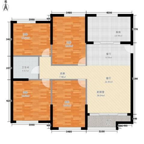 熙悦春天4室0厅1卫1厨131.00㎡户型图