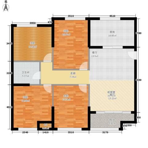 熙悦春天4室0厅1卫1厨126.00㎡户型图