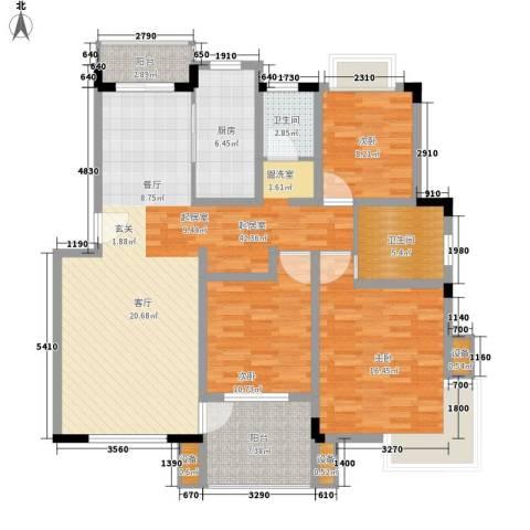 名门世家3室0厅2卫1厨121.00㎡户型图