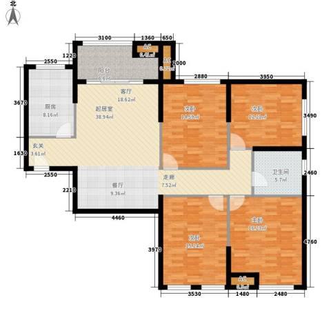 熙悦春天4室0厅1卫1厨134.00㎡户型图