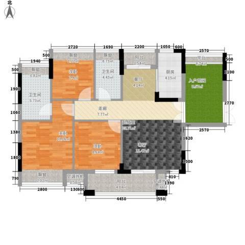世纪城国际公馆二期3室0厅2卫1厨159.00㎡户型图