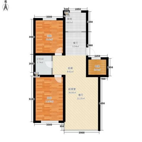 富馨花园2室0厅1卫1厨95.00㎡户型图