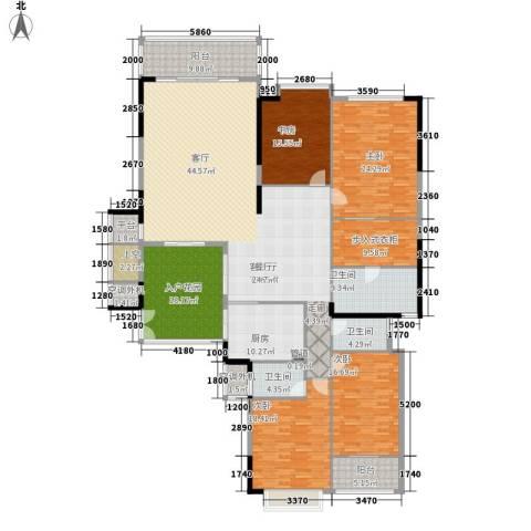 汇美景台4室1厅3卫1厨258.00㎡户型图