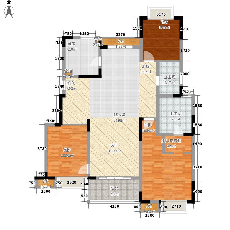 万科金域广场140.00㎡万科金域广场户型图F户型3室2厅2卫户型3室2厅2卫