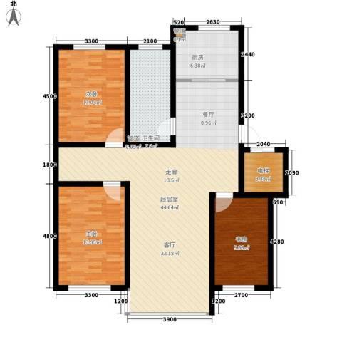 富馨花园3室0厅1卫1厨129.00㎡户型图