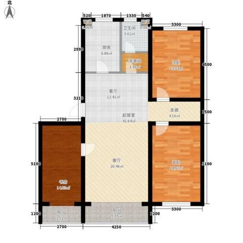 富馨花园3室0厅1卫1厨121.00㎡户型图
