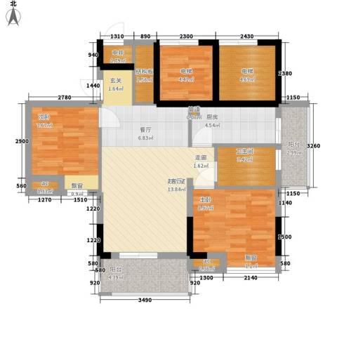 天马河壹号三期・御景湾2室0厅1卫1厨79.00㎡户型图