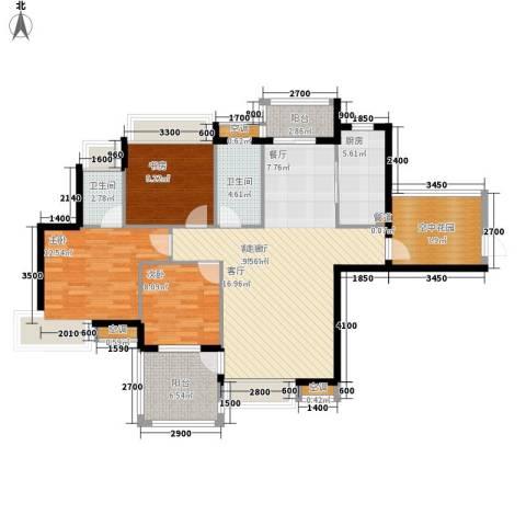 御龙湾3室1厅2卫1厨120.00㎡户型图