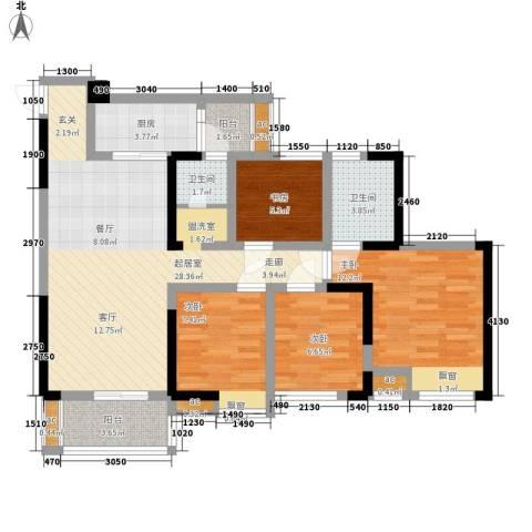 仁美大源印象4室0厅2卫1厨115.00㎡户型图