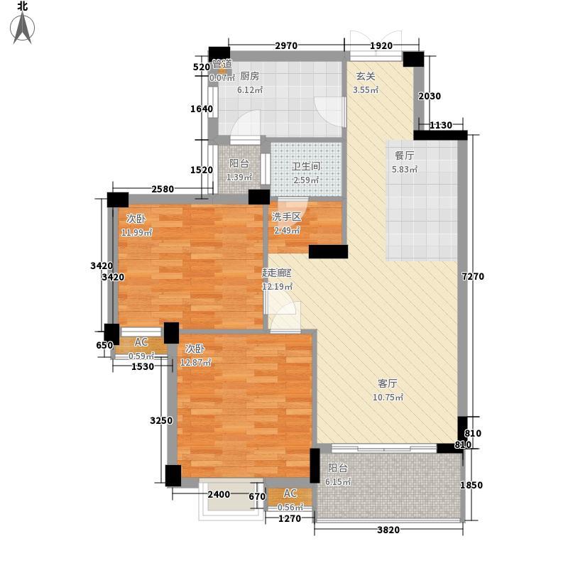 鹭岛国际社区四期87.00㎡鹭岛国际社区四期户型图户型图2室2厅1卫1厨户型2室2厅1卫1厨