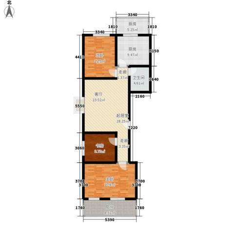 红全佳苑3室0厅1卫2厨109.00㎡户型图