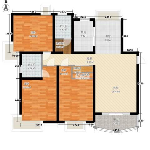 文翔名苑3室0厅2卫1厨130.00㎡户型图