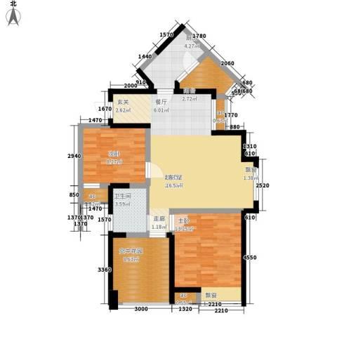 英郡三期2室0厅1卫1厨90.00㎡户型图