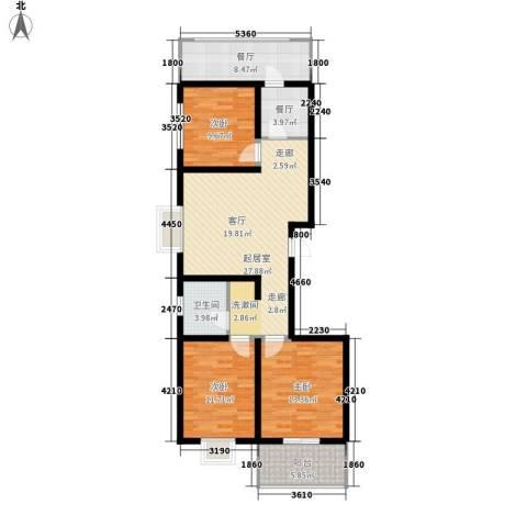 红全佳苑3室2厅1卫0厨97.00㎡户型图