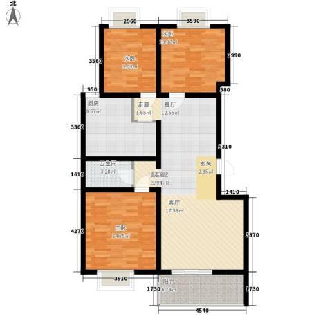 华宇凤凰城3室0厅1卫1厨101.00㎡户型图