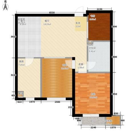 普罗旺斯3室0厅1卫1厨88.00㎡户型图
