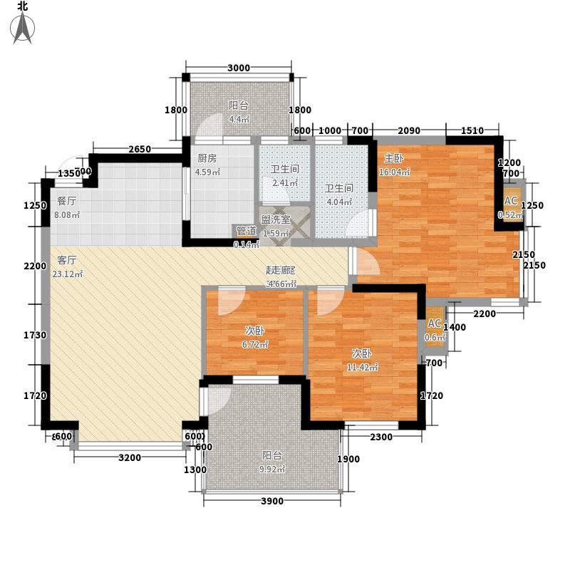 世纪朝阳124.95㎡世纪朝阳户型图户型图3室2厅2卫1厨户型3室2厅2卫1厨