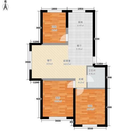 盈胜毓园3室0厅1卫0厨98.00㎡户型图