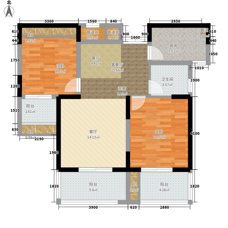 亿龙金河湾亿龙金河湾户型图户型5B2室2厅1卫1厨户型2室2厅1卫1厨
