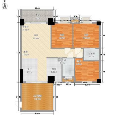 凯旋郡御景豪庭3室1厅2卫0厨128.00㎡户型图