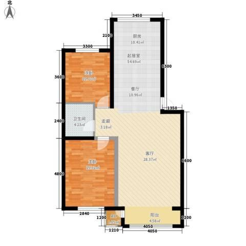 盈胜毓园2室0厅1卫0厨86.07㎡户型图