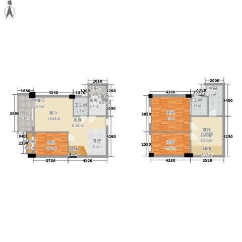 凯旋郡御景豪庭3室1厅3卫1厨141.00㎡户型图
