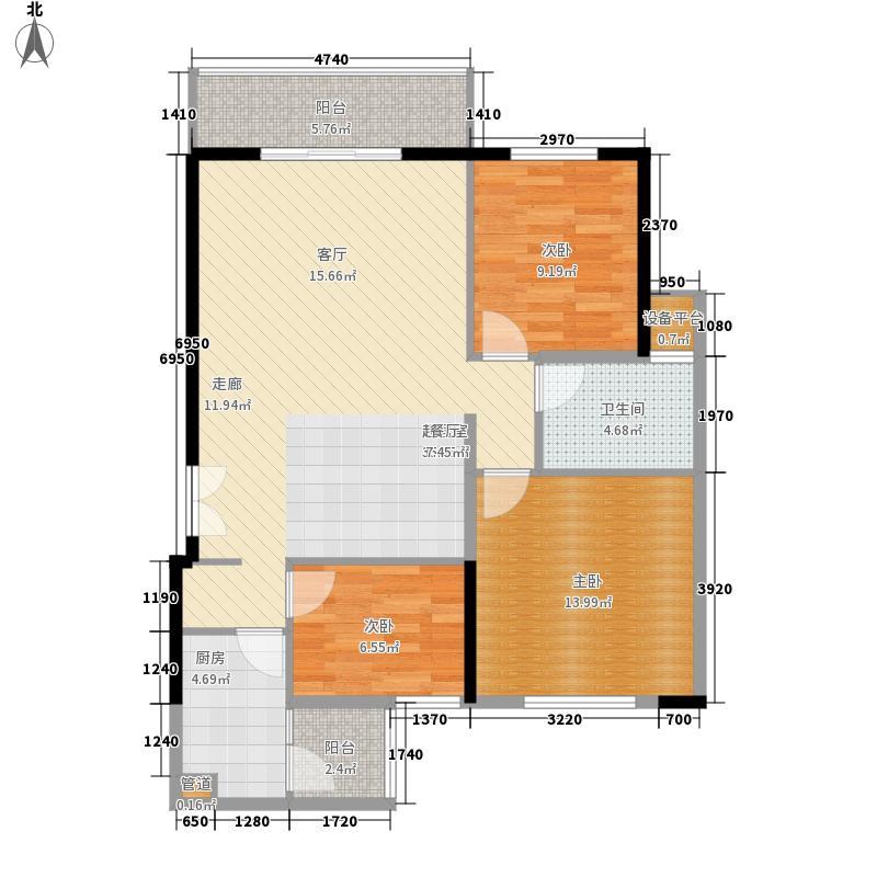 怡枫园二期63.00㎡怡枫园二期2室户型2室