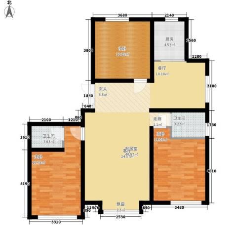 鼎盛国际3室0厅2卫1厨139.00㎡户型图