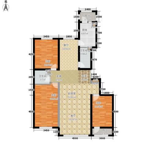 金嘉水岸3室0厅2卫1厨132.17㎡户型图