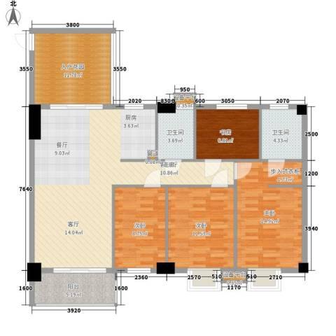 凯旋郡御景豪庭4室1厅2卫0厨148.00㎡户型图