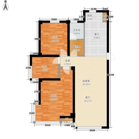 盈胜毓园3室0厅1卫0厨113.00㎡户型图