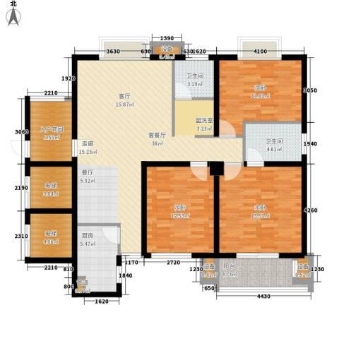 安粮双景佳苑3室1厅2卫1厨124.00㎡户型图