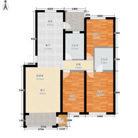 盈胜毓园3室0厅2卫0厨132.00㎡户型图