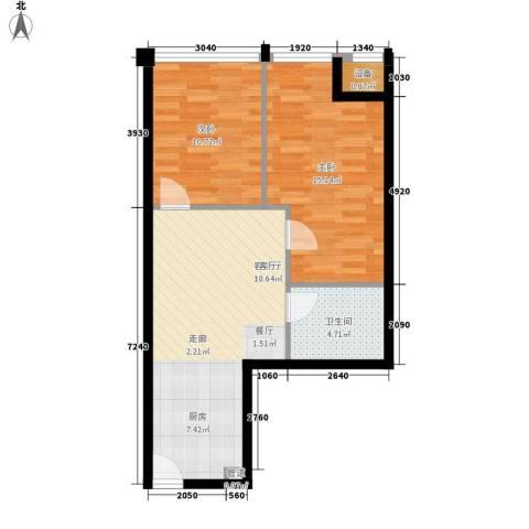 安粮双景佳苑2室1厅1卫0厨62.00㎡户型图