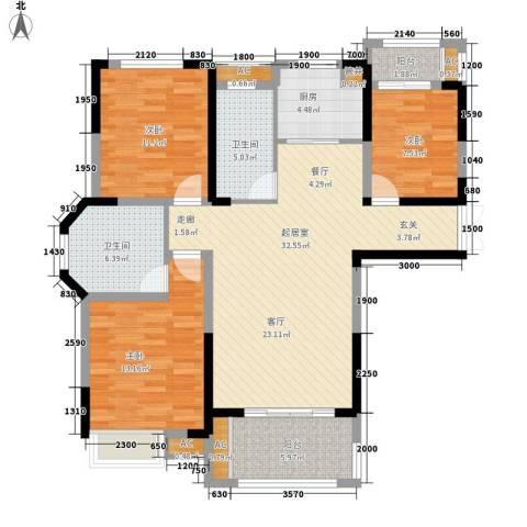 御景城3室0厅2卫1厨120.00㎡户型图