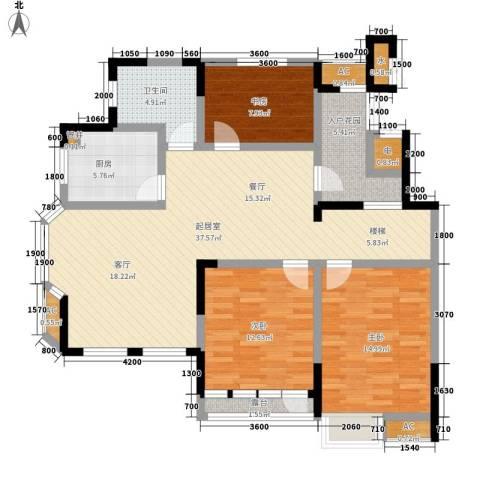 御景城3室0厅1卫1厨114.00㎡户型图