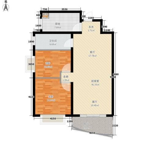 汇统花园2室0厅1卫1厨99.00㎡户型图