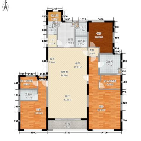 万达广场3室0厅4卫1厨235.00㎡户型图