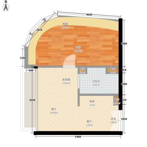 厚街万达广场1室0厅1卫0厨51.00㎡户型图
