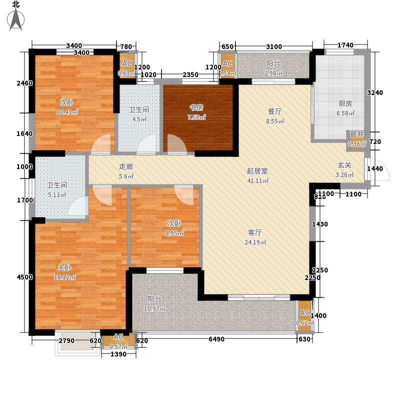 融科天城户型图422(已售完) 4室2厅2卫1厨