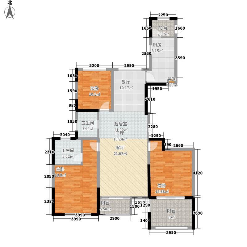 威尼斯水城135.00㎡御江天下b1户型3室2厅2卫1厨
