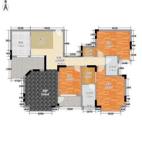 世纪城国际公馆二期3室0厅2卫1厨138.00㎡户型图