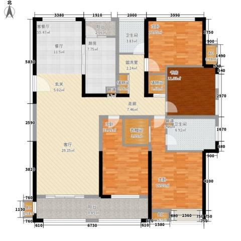南京万达广场4室1厅2卫1厨170.00㎡户型图