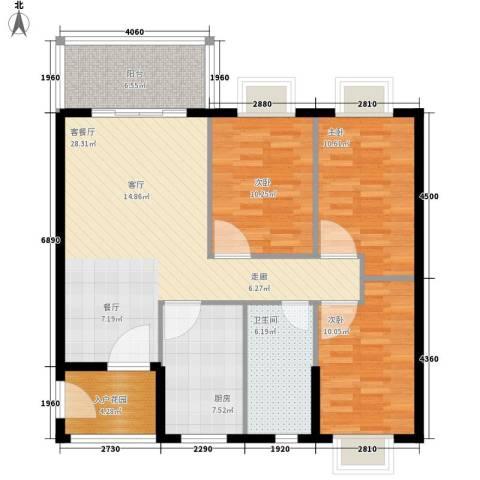 尚贤坊3室1厅1卫1厨94.00㎡户型图