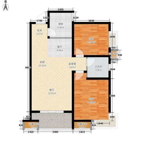 同祥城2室0厅1卫1厨106.00㎡户型图