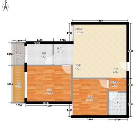 澳城大厦2室0厅1卫1厨92.00㎡户型图