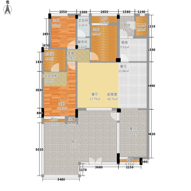 金色乐章142.92㎡户型4室2厅2卫1厨