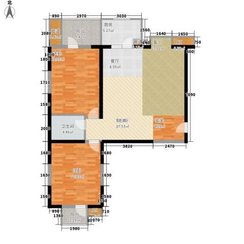 万华园丽景华都2室1厅1卫1厨112.00㎡户型图